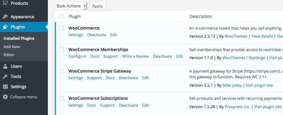 Activate WooCommerce and Membership Plugins