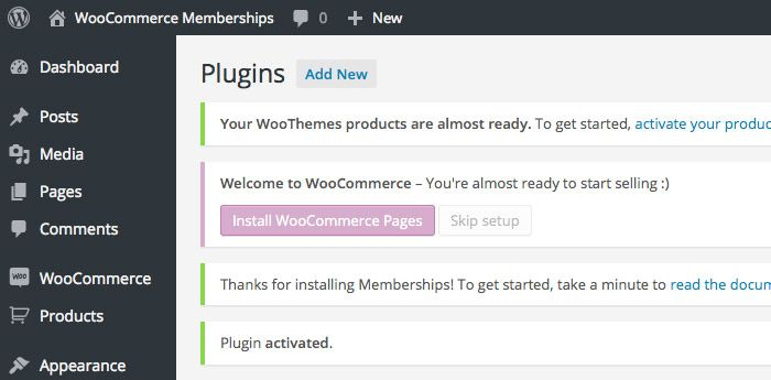 Install WooCommerce Pages